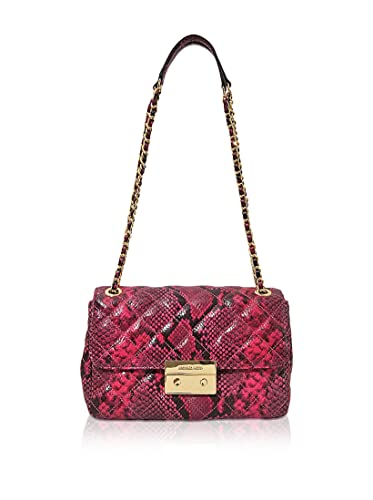 bc50b86900 MICHAEL Michael Kors Womens Sloan Large Chain Shoulder Bag (Fuschia ...