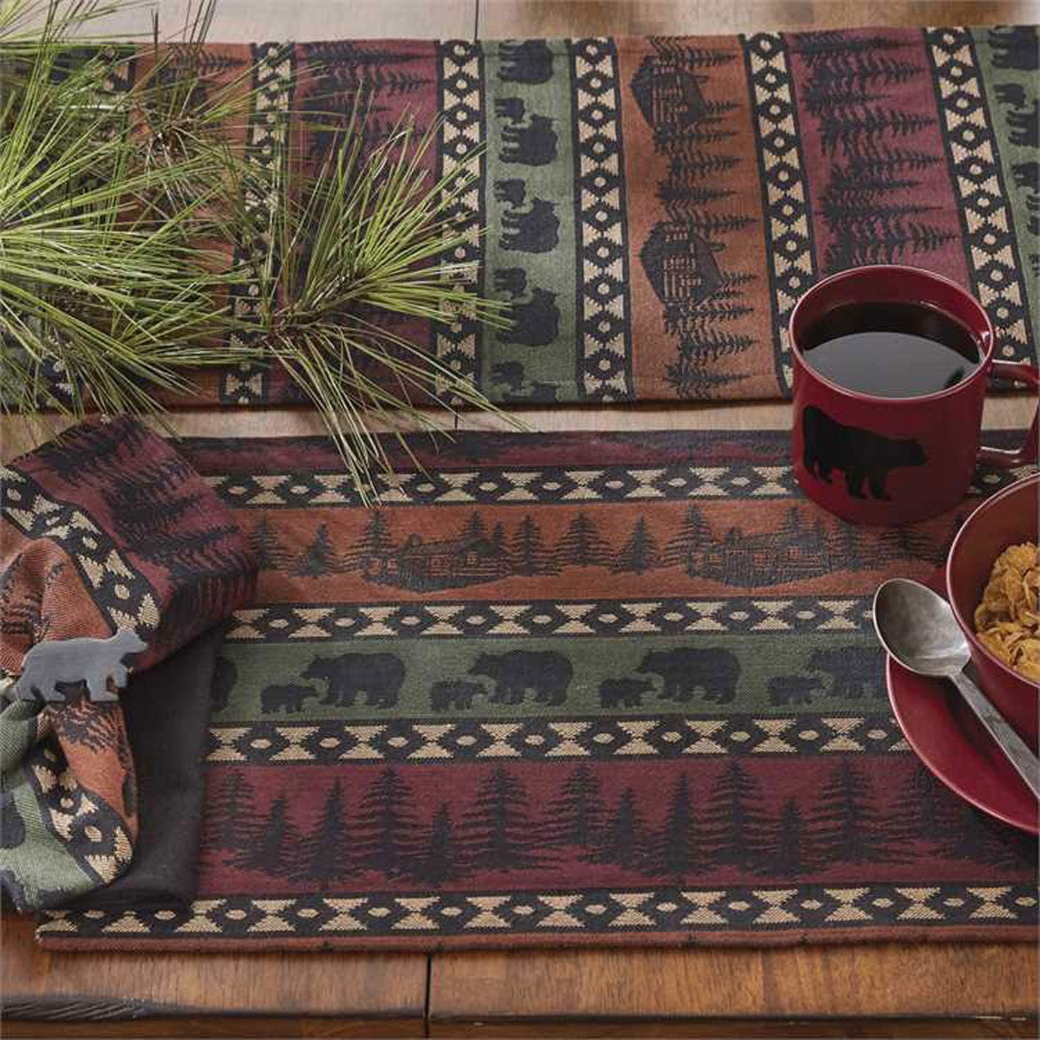Park Designs Mountain Bear Lodge Style Placemat Set of 4