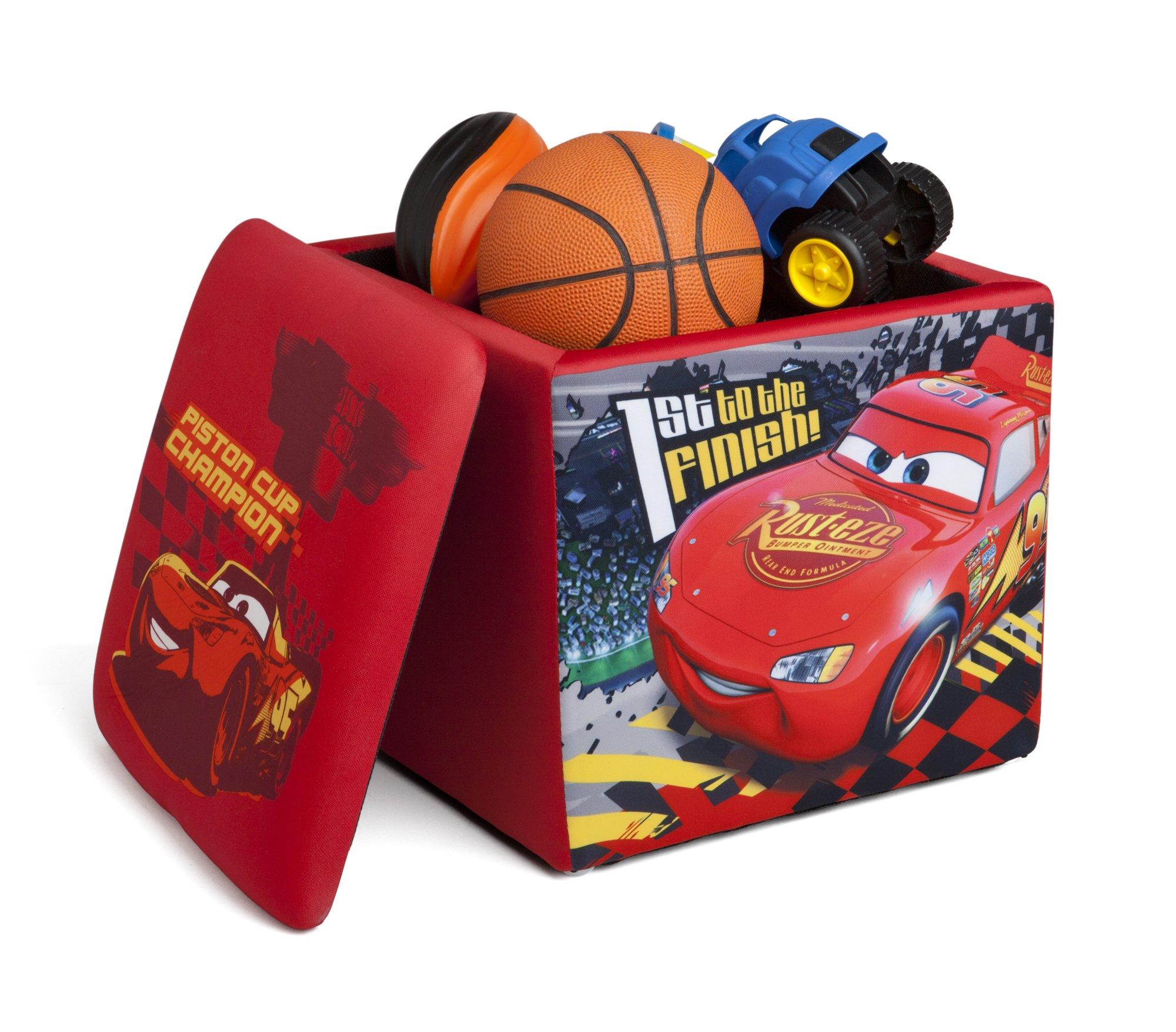Disney Pixar Cars Lightning McQueen Storage Ottoman Seat