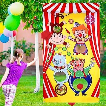 Howaf Carnival Juegos para niños, Animal de Circo Toss Juego ...
