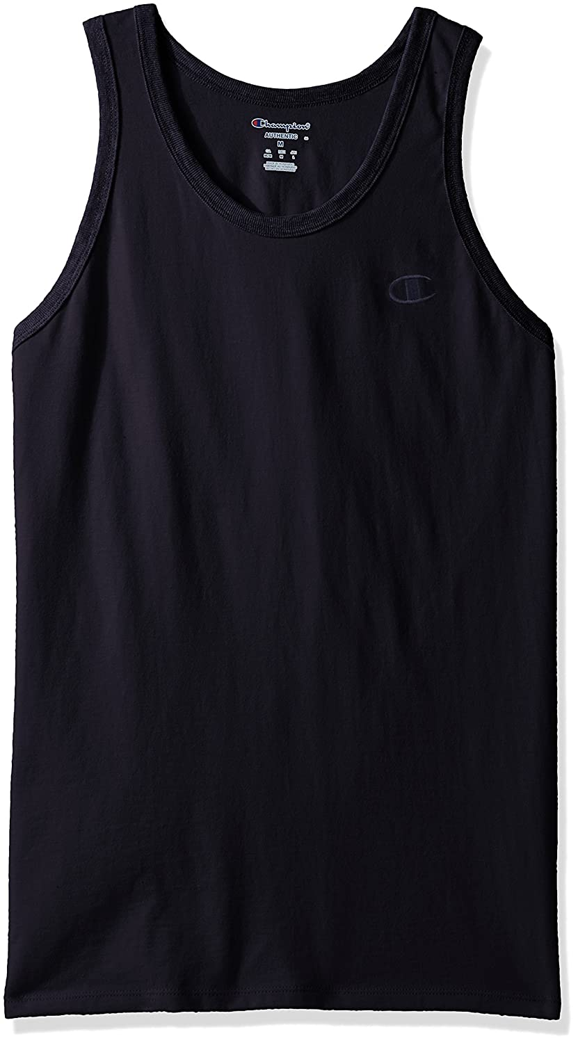 Champion Men's Classic Jersey Ringer Tank Top Champion Men's Athletic T0224