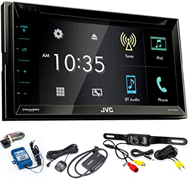 JVC KW-V330BT 6.8 BT DVD CD AM FM Digital Media Car Stereo with SiriusXM Tuner, Back Up Camera, Steering Wheel Controls