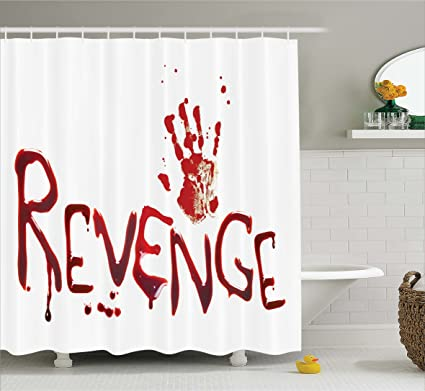 Amazon Ambesonne Bloody Shower Curtain Set By Handprint And