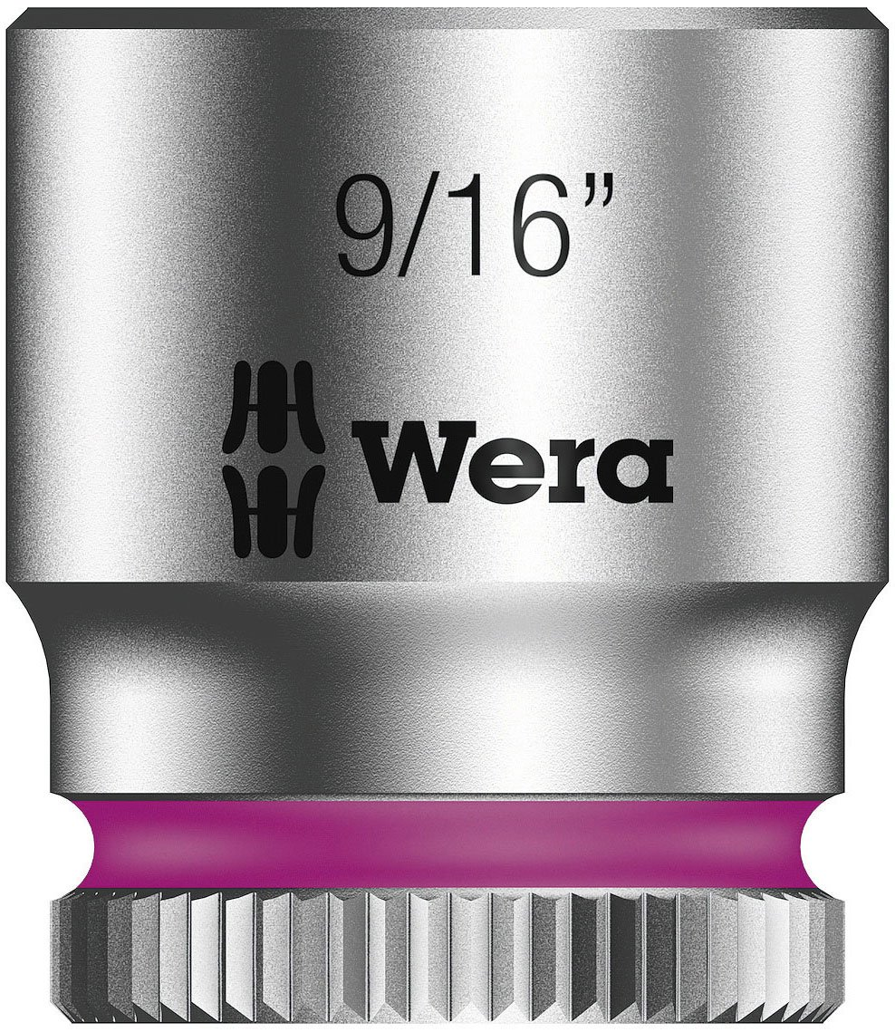 Wera 05003523001 8790 Hma Zyklop 1/4' Socket, 9/16' 9/16