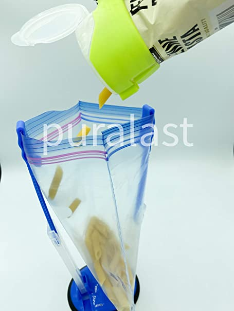 Soporte para bolsa de almacenamiento de alimentos de 4 piezas bolsas para congelador para bolsas de almacenamiento de alimentos bolsas de pl/ástico para preparar alimentos