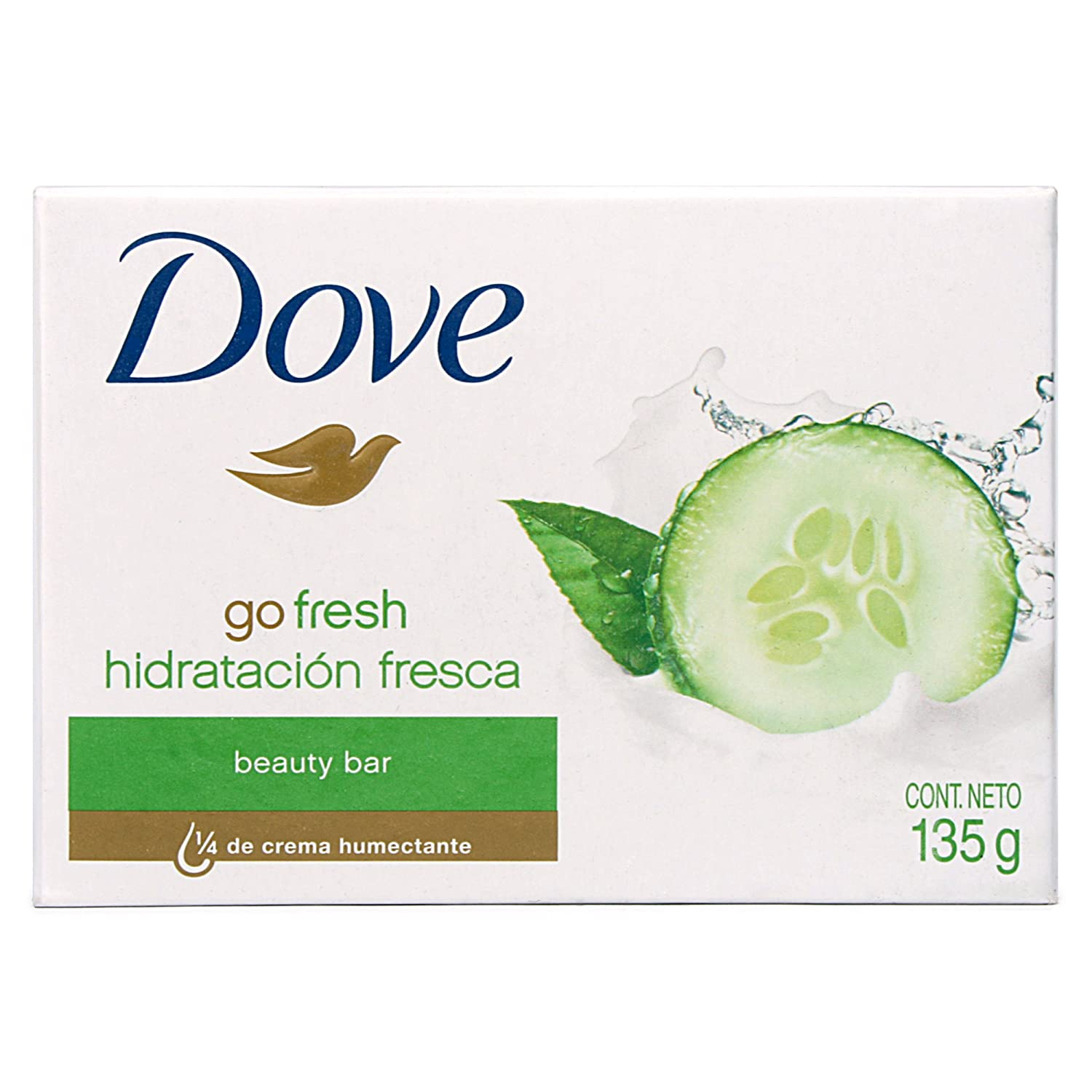 Amazon.com: Dove Barra de Jabón 135 g Go Fresh Fresh Touch 8 ...