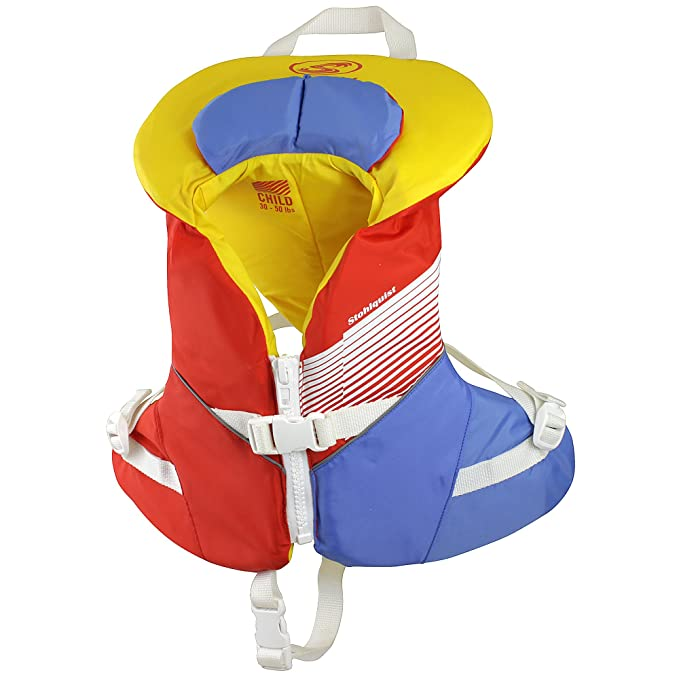 Stohlquist Waterware Kids Life Jacket Coast Guard Approved Life Vest for Children,Orange/Yellow,30 - 50 lbs best children's life vest