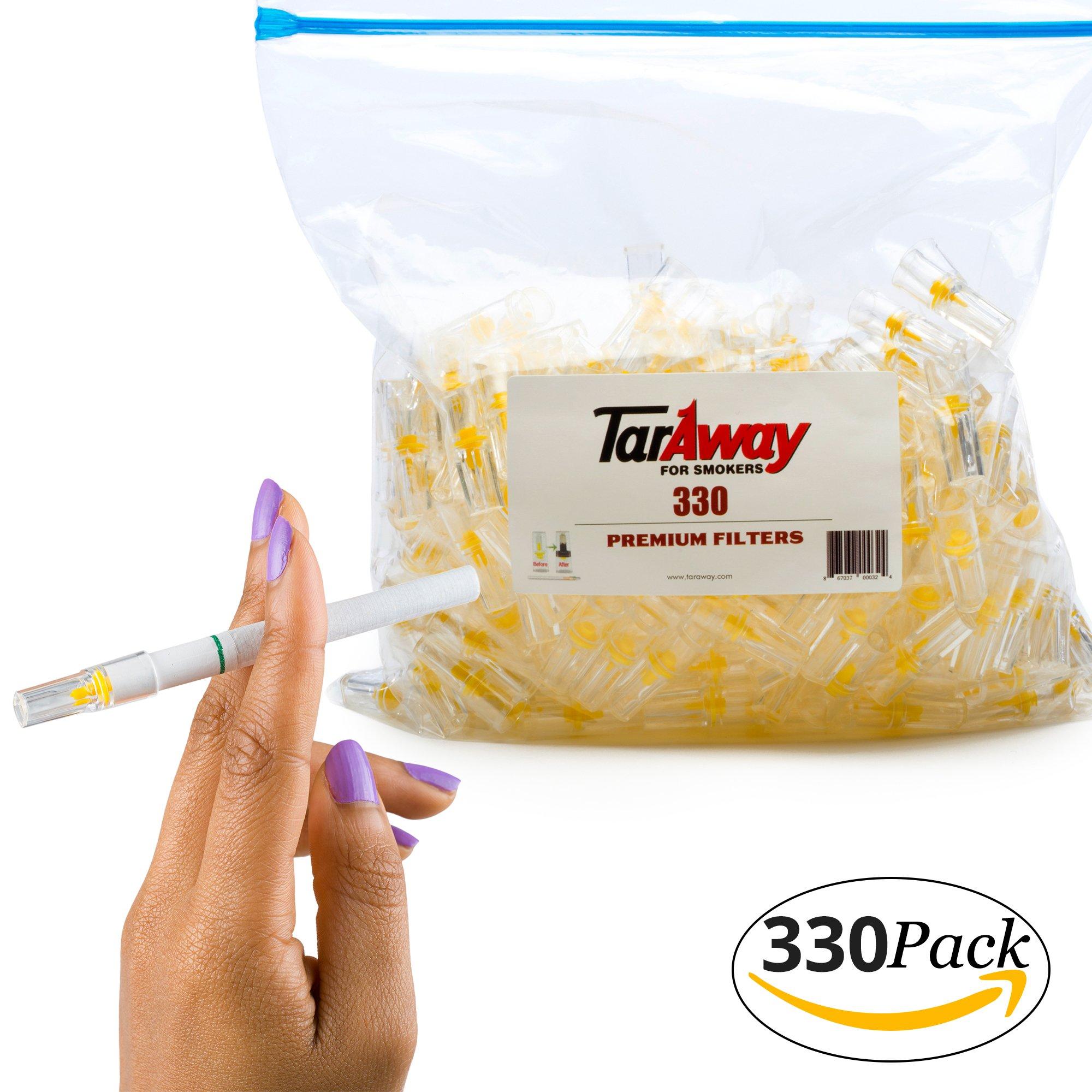 Taraway Cigarette Filters | Food Grade Disposable Plastic Filter Tips - Pack of 330 Filter Cartridges