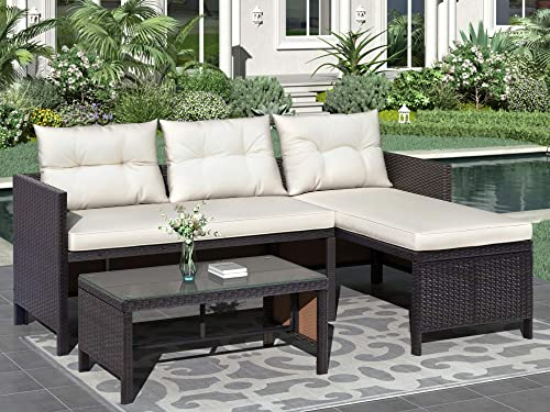 Merax 3-Piece Outdoor Furniture Set