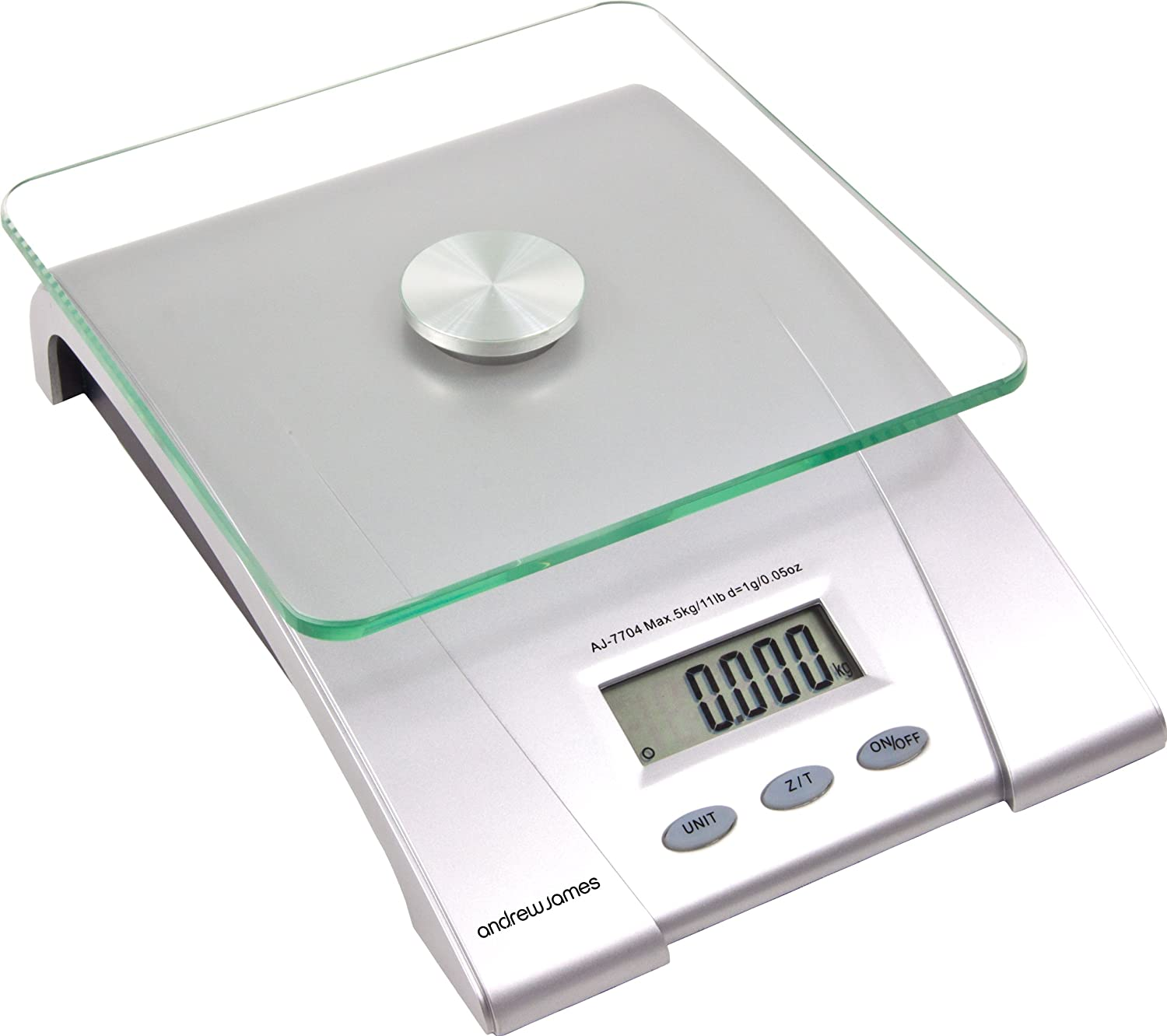 Andrew James Electronic Digital Kitchen Scales with Glass Platform ...
