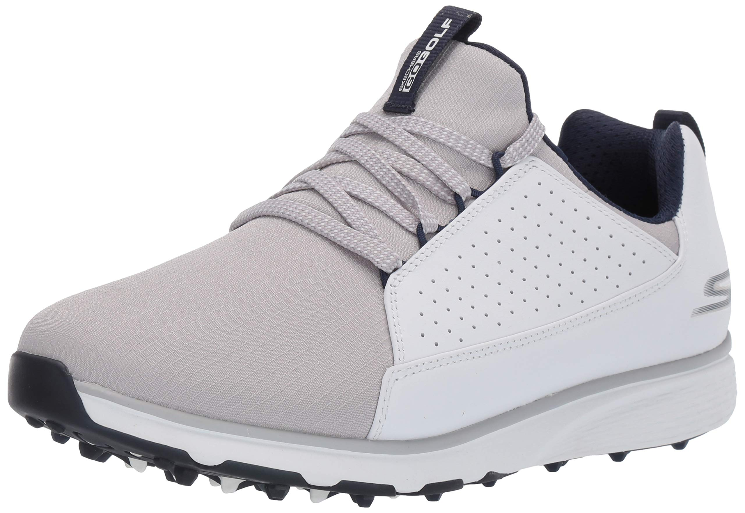 Skechers Men's Mojo Waterproof Golf Shoe, White/Gray, 13 W US by Skechers