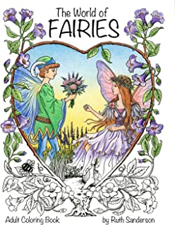 The World Of Fairies A Coloring Book For Adults
