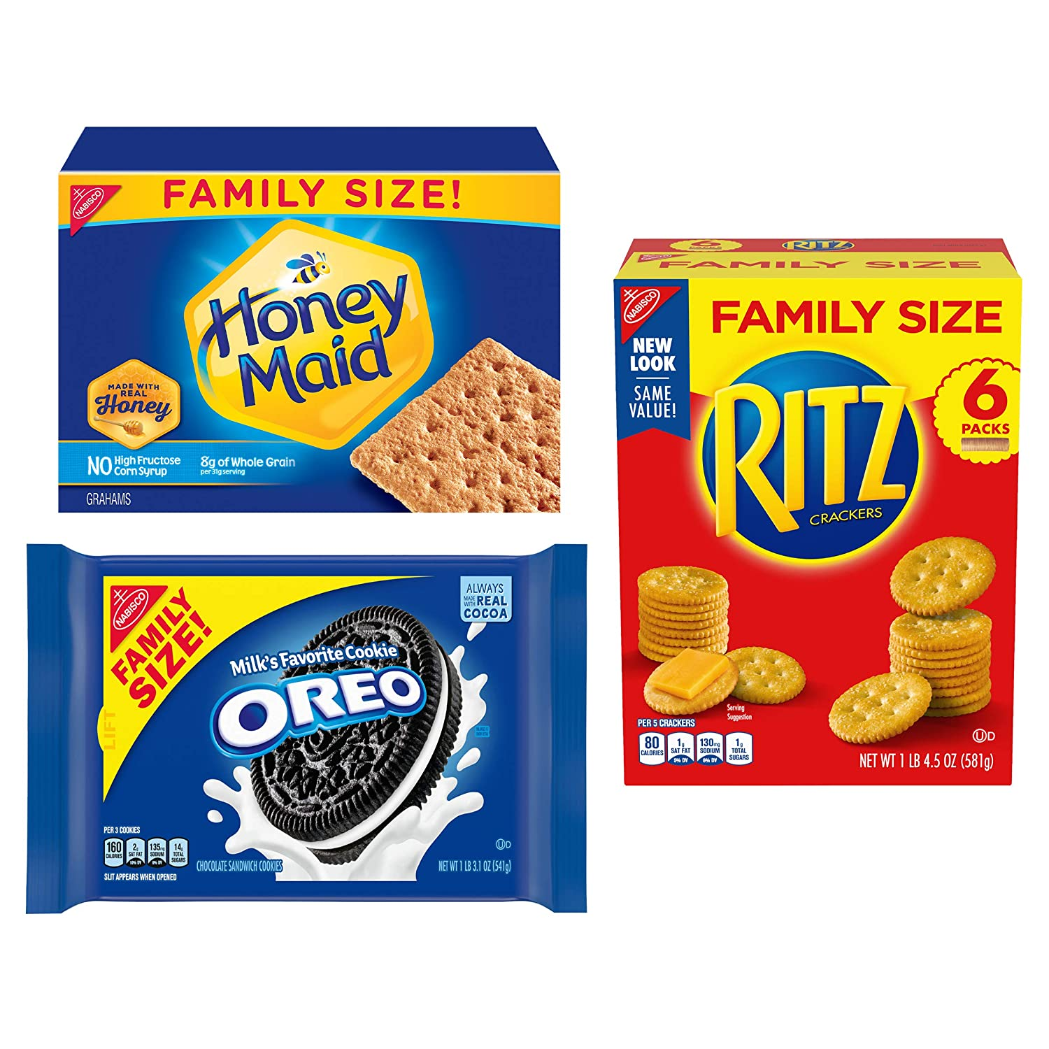 OREO, RITZ, & Honey Maid Snack Variety Pack, Family Size - 3 Packs