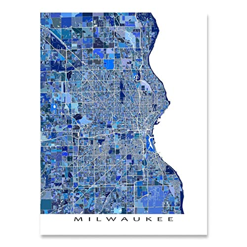 Amazon Com Milwaukee Map Print Wisconsin Usa City Map Art Poster