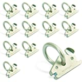AFA Tooling E Track O Ring Tie Down Anchors 12-Pack - 7.000lbs BS Stainless Steel E Track Tie Downs Accessories – Robust Rust