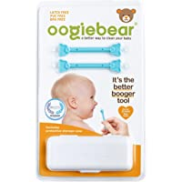 oogiebear - Patented Nose and Ear Gadget. Safe, Easy Nasal Booger and Ear Cleaner for Newborns and Infants. Dual Earwax…