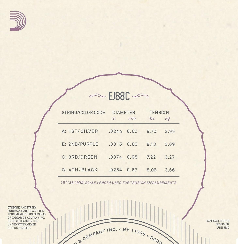 DAddario IN53-VCES Juego de Cuerdas Transparente