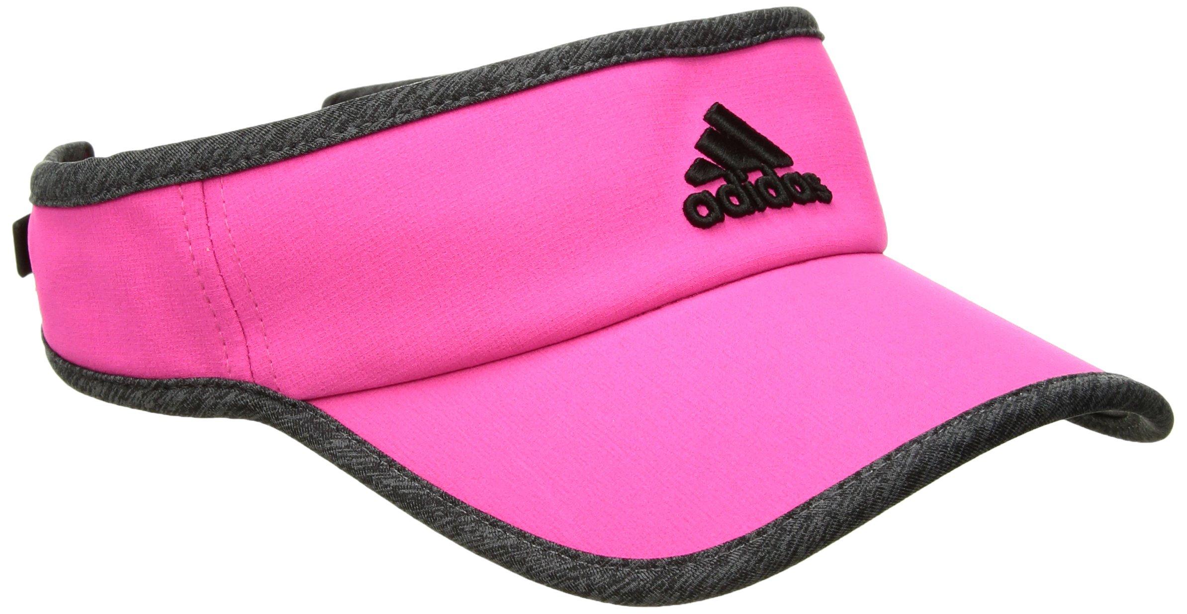 adidas Women's Adizero Ii Visor, Shock Pink/Dark Grey Heather/Black, One Size
