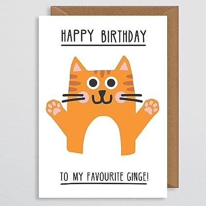 Tarjeta de cumpleaños para gato divertida - Tarjeta de ...