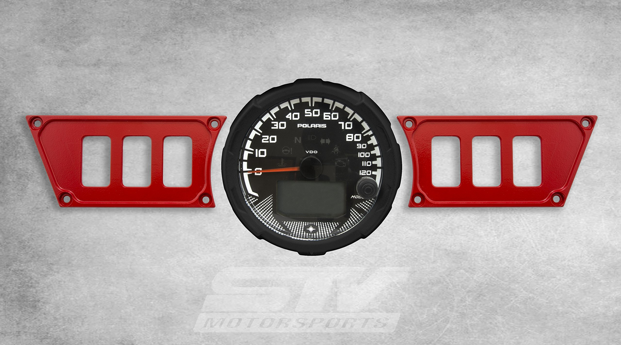STVMotorsports Custom Aluminum Red Dash Panel for Polaris RZR XP 1000 with 6 Switch Openings (no switches Included) by STVMotorsports