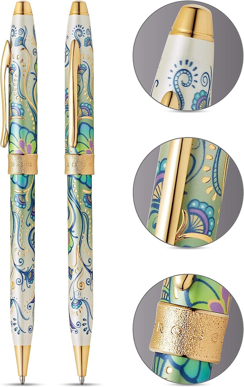Cross Century II Botanica Green Daylily Fine Point Fountain Pen W 23K Nib /& Trim