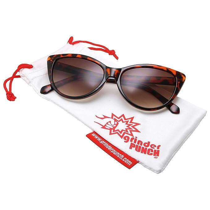 dea1dd22c1 grinderPUNCH Super Cateyes Vintage Inspired Fashion Mod Chic High Pointed  Cat-Eye Sunglasses