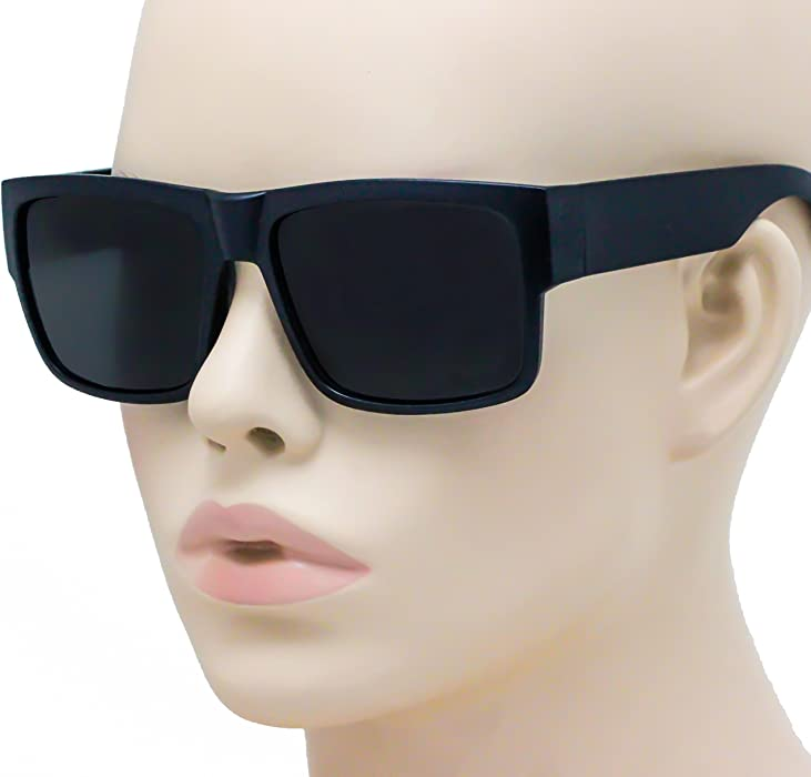 e60294167180c Large Square CHOLO Sunglasses Super Dark OG LOCS Style GANGSTER Style Black  NEW (Black). Back. Double-tap to zoom