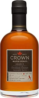 product image for Organic Crown Maple Syrup - Golden Color - Delicate Taste (375 mL)