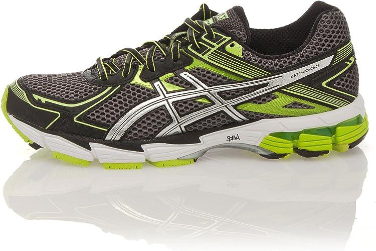 Asics GT 1000 2, Zapatillas de Running para Hombre, Negro/Verde, 45 EU: Amazon.es: Zapatos y complementos