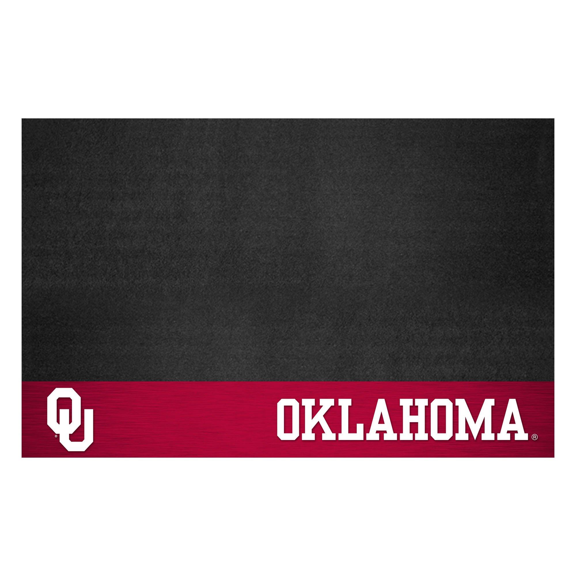 Fanmats NCAA University of Oklahoma Sooners Vinyl Grill Mat