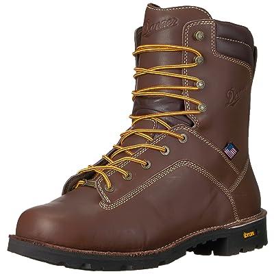 "Danner Men's Quarry USA 8"" Brown Work Boot | Industrial & Construction Boots"