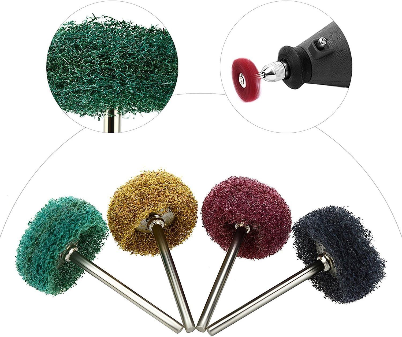 Tucson 10PCS Abrasive Polishing Wheel Grit Brush Radial Bristle Disc Detail Rotary Tools for Carving Cleaning Deburring