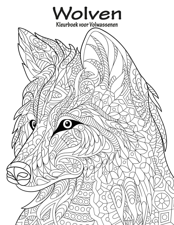 volwassen kleurplaat wolf kidkleurplaat nl