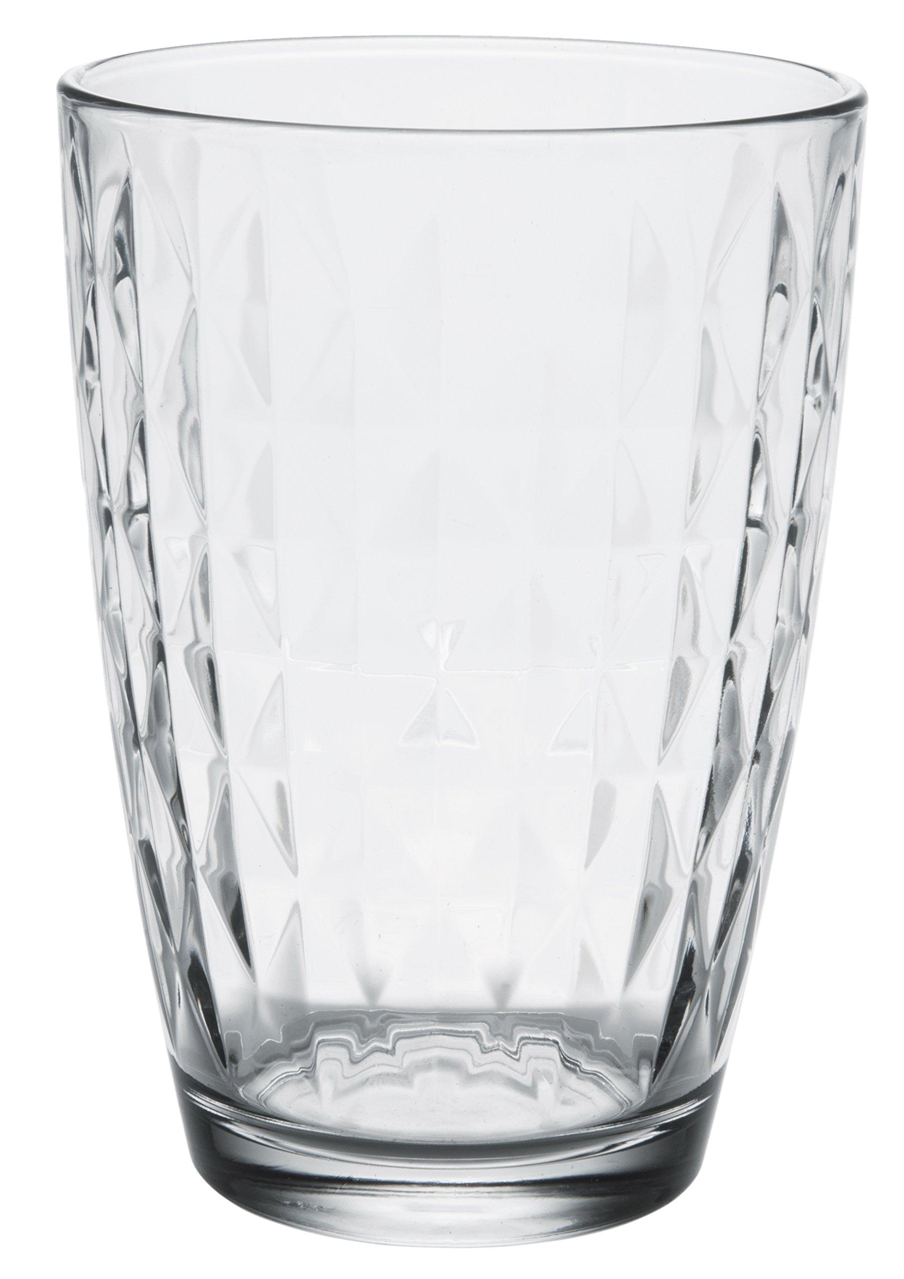 Artemis Modern Clear Glass Tall Iced Tea Cups, Drinking Glasses Water Juice Soda Beverage Tumblers, Set of 6, 14 fl oz