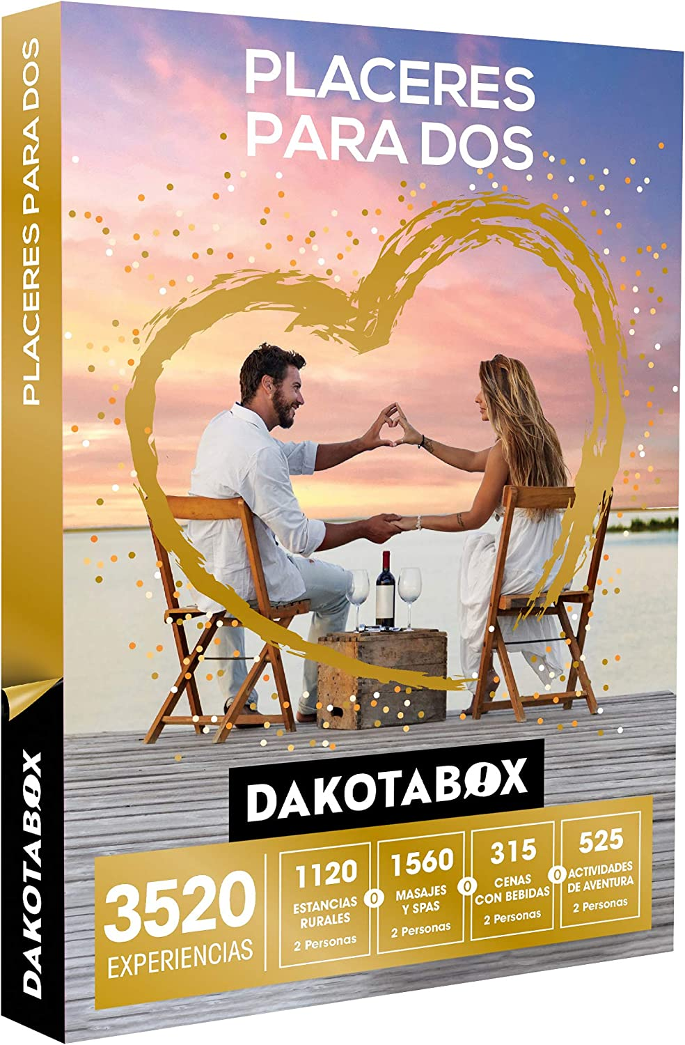 DAKOTABOX - Caja Regalo - PLACERES para Dos - 3520 Experiencias ...