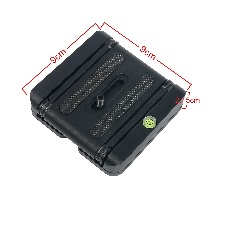 YaeKoo aleaci/ón de aluminio plegable Z cabeza de inclinaci/ón flex soporte de sobremesa soporte placa de liberaci/ón r/ápida para DSLR C/ámara Videoc/ámara Tr/ípode