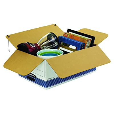 FastFold 00704 Letter, Bankers Box STOR//File Medium-Duty Storage Boxes String and Button