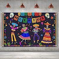 Day of The Dead Backdrop for Mexican Fiesta Sugar Skull Flowers Background Dia DE Los Muertos Birthday Halloween Party…