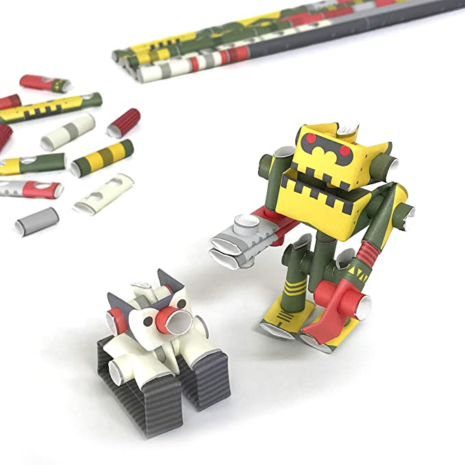 Rock Star /& His Only Fan PIPEROID Guyzer /& Bean Paper Craft Robot kit from Japan