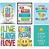 Creative Teaching Press Wall Poster Emoji Fun Inspire U Poster 6-Pack, Ctp 8093 with