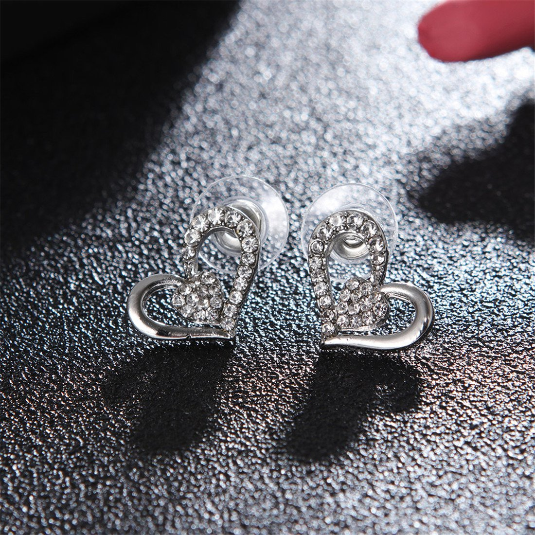 Szolno Pendant Necklace Heart Shape Jewelry Set