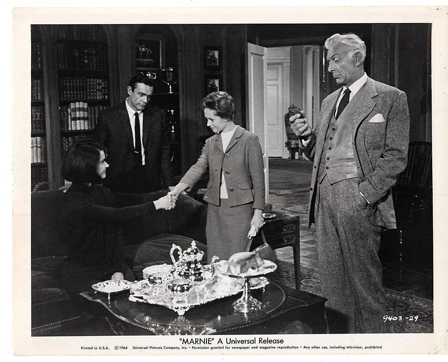Marnie 1964 Alfred Hitchcock Tippi Hedren Sean Connery And Alan Napier An Original Universal Studios Press Photograph From The Now Classic Alfred Hitchcock Film The Photograph Is In Excellent Condition And Has The Original Alan napier was an english character actor. marnie 1964 alfred hitchcock tippi