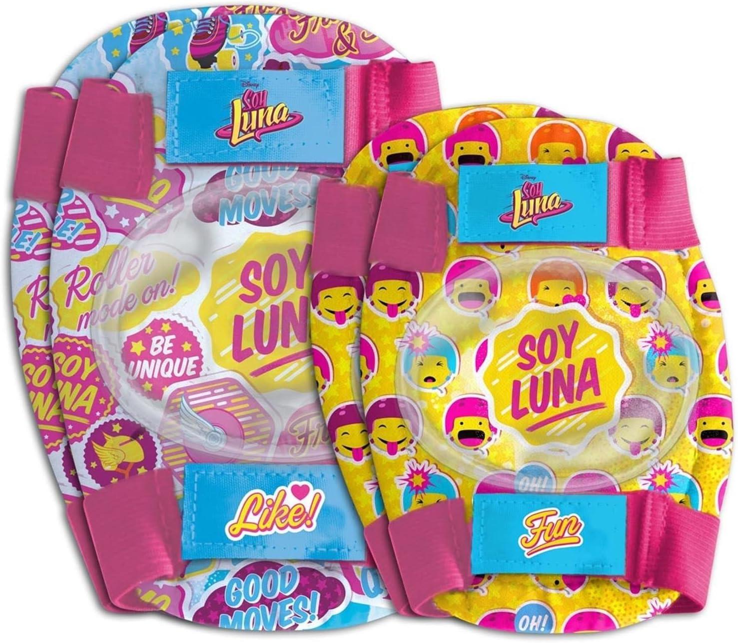 ONOGAL Kit proteccion Infantil Codos y Rodillas Soy Luna Bicicleta ...