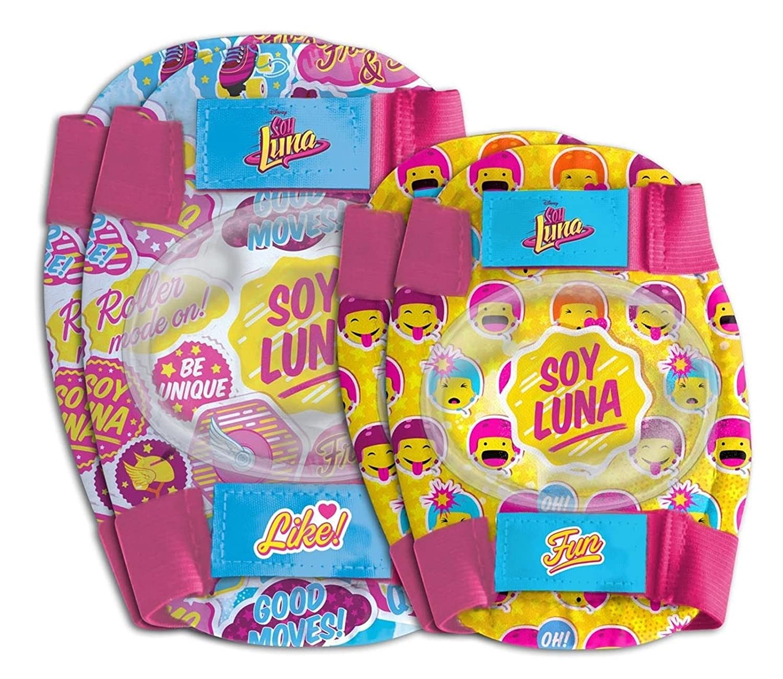 ONOGAL Kit proteccion Infantil Codos y Rodillas Soy Luna Bicicleta Patinete 35694 6179