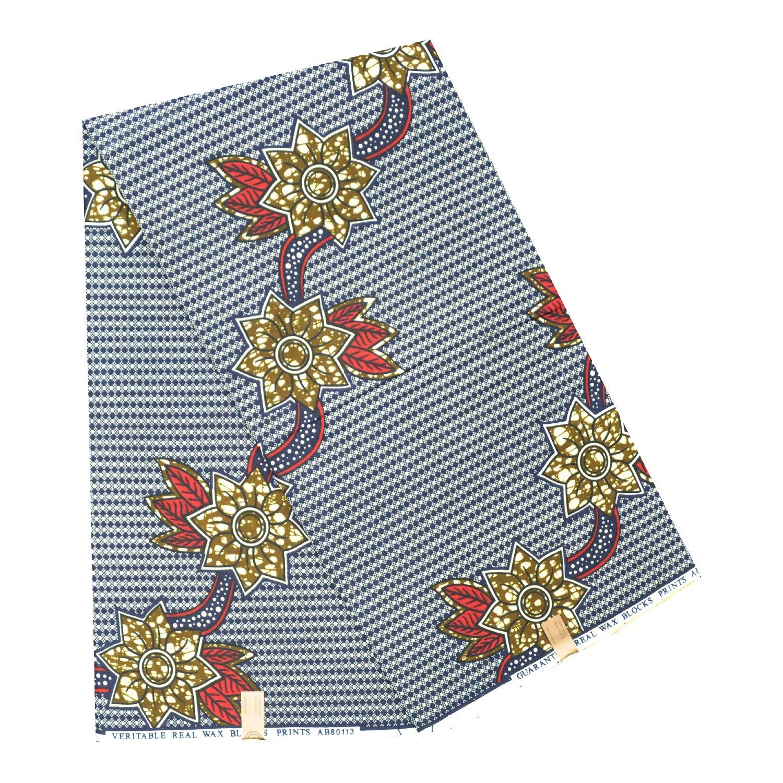 Ankara for Cotton 6 Yards Dress Fabric. Colourful African Wax Print Fabric