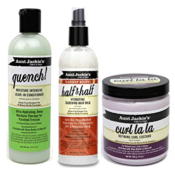 4e7a48cfcb3e5b Aunt Jackies Curls & Coils TRIO BUNDLE | Quench Moisture Intensive Leave In  Conditioner 355 ml