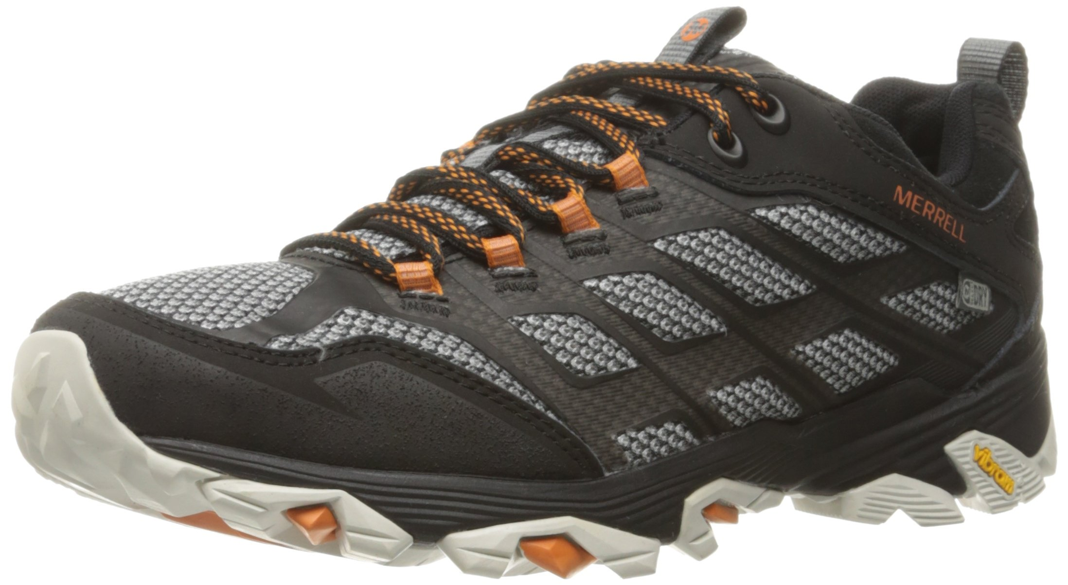 Merrell Men's Moab FST Waterproof Hiking Shoe, Black, 12 M US