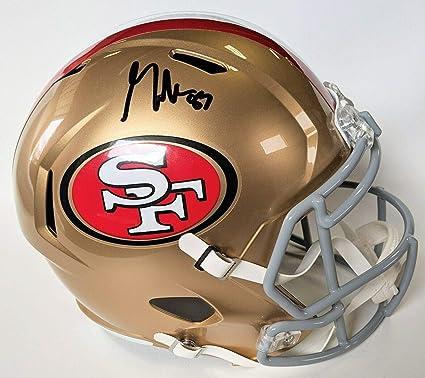 Amazon Com George Kittle Signed Helmet Speed Replica F S