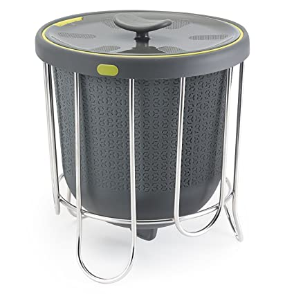 Polder Kitchen Composter Flexible Silicone Bucket Inverts For Emptying And  Cleaning   No Need To
