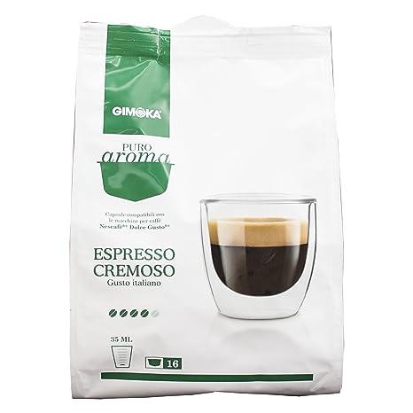 Aroma de café Gimoka puro Cremoso, gusto Italiano, café, café de cápsulas de Nescafé Dolce Gusto con, de colour verde, 80 cápsulas: Amazon.es: Alimentación ...